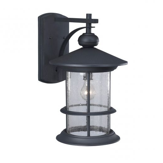 Anner Seeded Glass Outdoor Wall Lanterns Intended For Best And Newest Ryder Outdoor Black Wall Lantern With Seeded Glass (View 17 of 20)