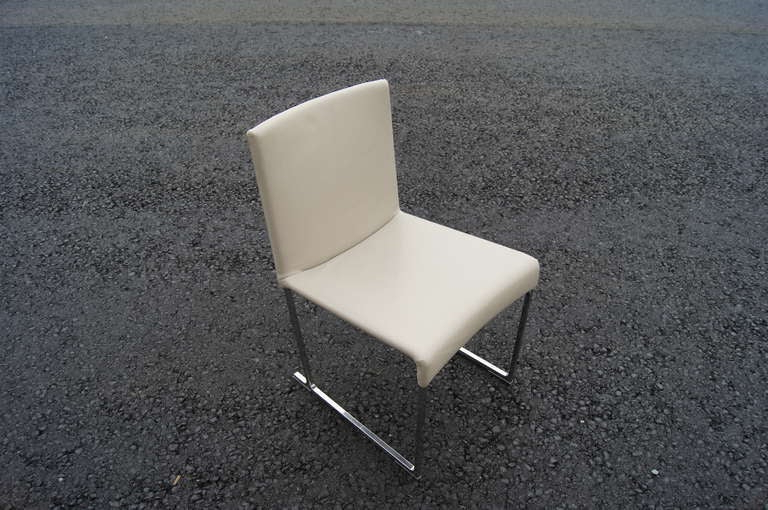 Antonio Light Gray Leather Sofas For Best And Newest Set Of Ten Solo Dining Chairsantonio Citterio For B&b (View 3 of 20)