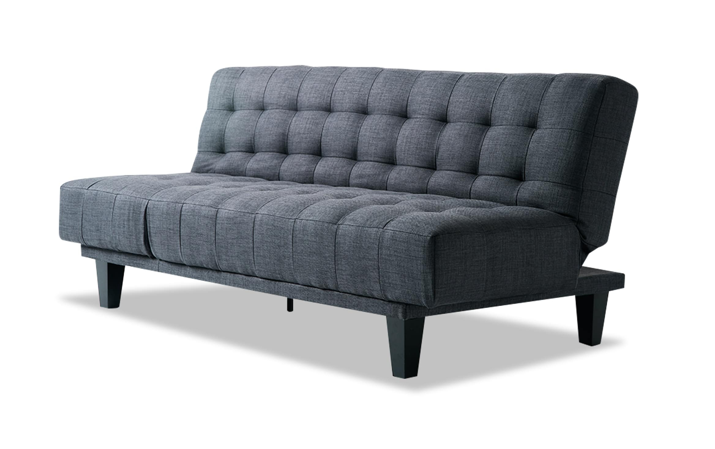 Antonio Light Gray Leather Sofas Throughout Current Bobs Furniture Futon Bed (View 9 of 20)