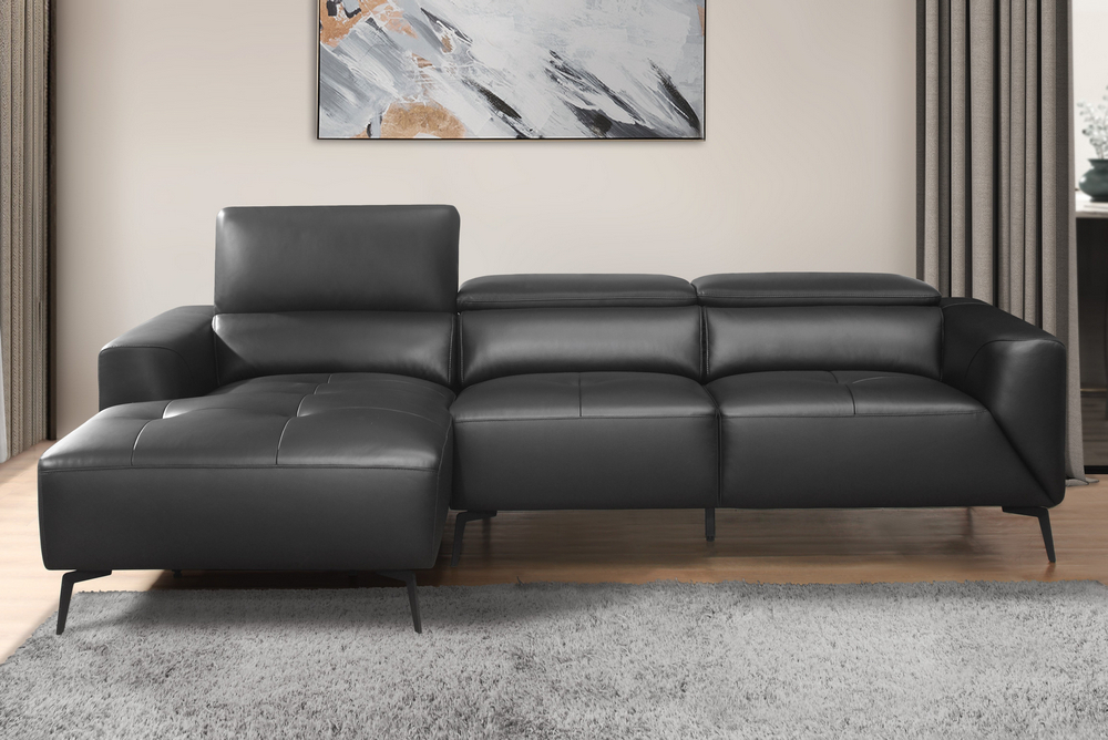 [%argonne 2 Pc Black Top Grain Leather Raf Sectional Sofa Intended For Well Known Matilda 100% Top Grain Leather Chaise Sectional Sofas|matilda 100% Top Grain Leather Chaise Sectional Sofas In Preferred Argonne 2 Pc Black Top Grain Leather Raf Sectional Sofa|current Matilda 100% Top Grain Leather Chaise Sectional Sofas Pertaining To Argonne 2 Pc Black Top Grain Leather Raf Sectional Sofa|most Current Argonne 2 Pc Black Top Grain Leather Raf Sectional Sofa With Regard To Matilda 100% Top Grain Leather Chaise Sectional Sofas%] (View 4 of 20)