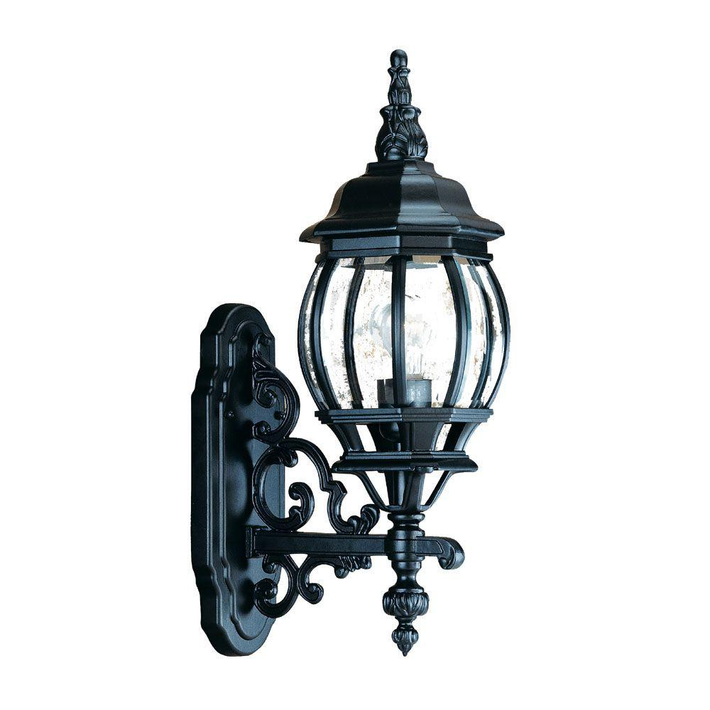 Armanno Matte Black Wall Lanterns Throughout Preferred Acclaim Lighting Chateau Collection 1 Light Matte Black (View 11 of 20)