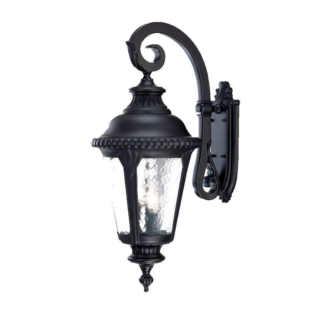Armanno Matte Black Wall Lanterns With Current Acclaim Lighting Surrey Collection 3 Light Matte Black (View 5 of 20)