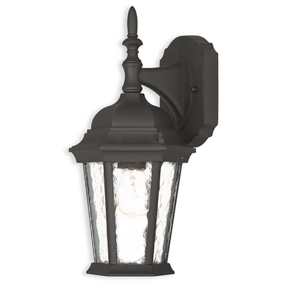 Armanno Matte Black Wall Lanterns Within Most Current Livex Lighting Hamilton 1 Light Textured Black Outdoor (View 14 of 20)