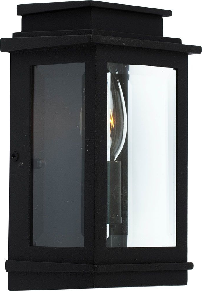 Artcraft Ac8191bk Fremont Black Exterior Wall Light With Best And Newest Brierly Oil Rubbed Bronze/black Outdoor Wall Lanterns (View 10 of 20)