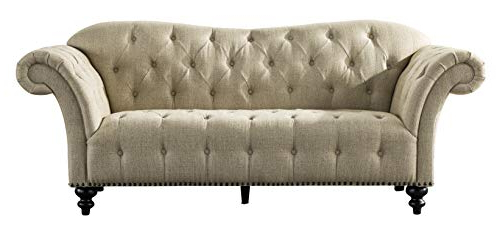 Artisan Beige Sofas With Fashionable Acanva Luxury Chesterfield Vintage Living Room Family Sofa (View 19 of 20)