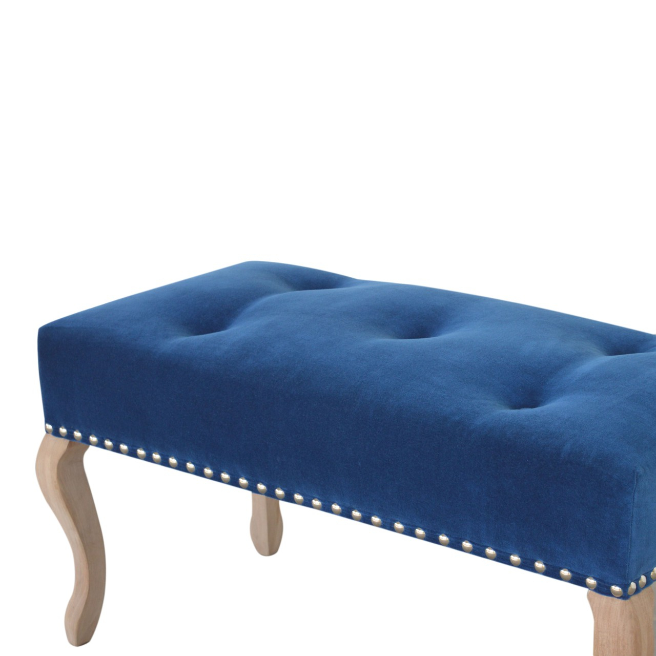 Artisan Blue Sofas Throughout Favorite Wholesale French Style Royal Blue Velvet Bench, Dropship (View 12 of 20)