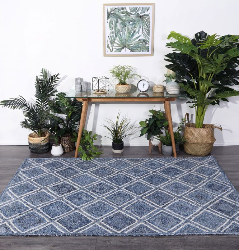 Artisan Blue Sofas With Widely Used Artisan Blue Natural Parquetry Rug – Haggleco (View 17 of 20)