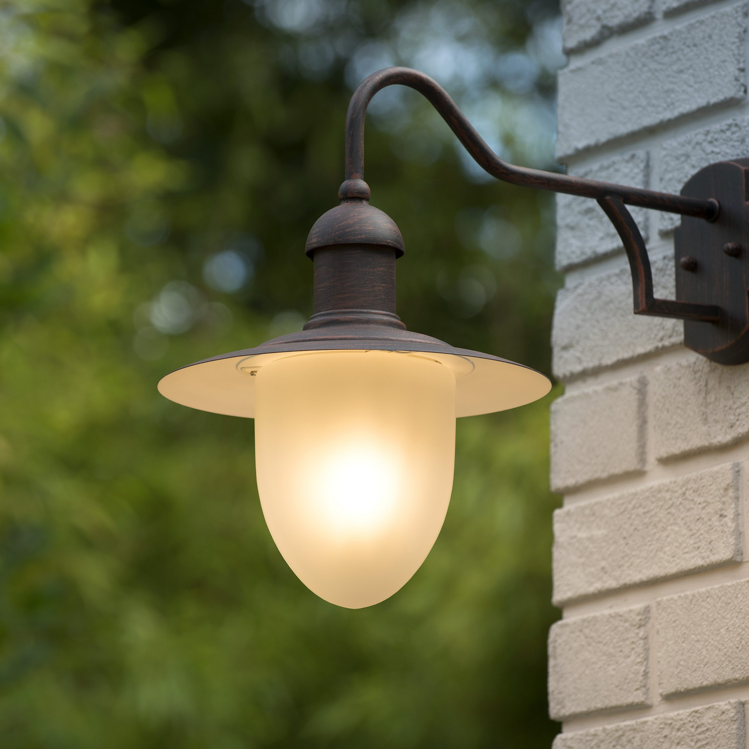 Aruba – Wall Light Outdoor – Ø 25 Cm – 1xe27 – Ip44 – Rust Within Fashionable Brookland Outdoor Wall Lanterns (View 14 of 20)
