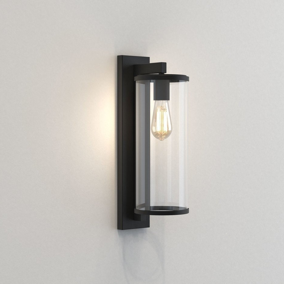 Astro Lighting – Pimlico 500 1413004 – Ip23 Textured Black Within Most Recent Sheard Textured Black 2 – Bulb Wall Lanterns (View 8 of 20)
