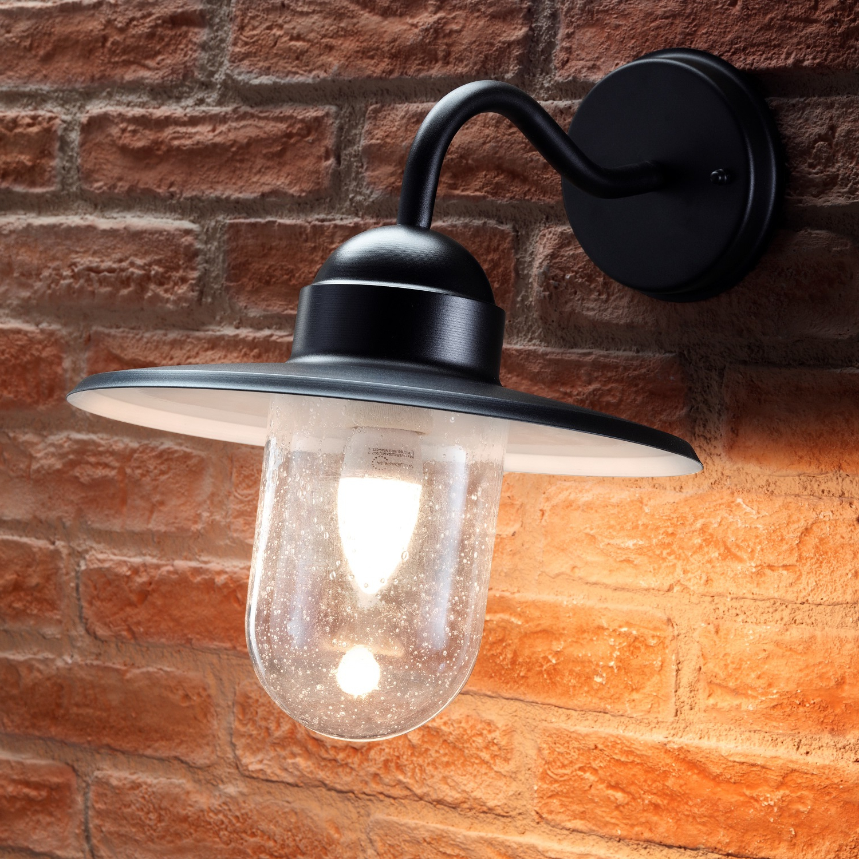 Auraglow Outdoor Wall Lantern – Nautical – Black Within Well Liked Ciotti Black Outdoor Wall Lanterns (View 6 of 20)