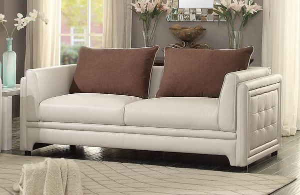 Azure Sofa – Sofas – Living Room In Newest Camila Poly Blend Sectional Sofas Off White (View 9 of 20)
