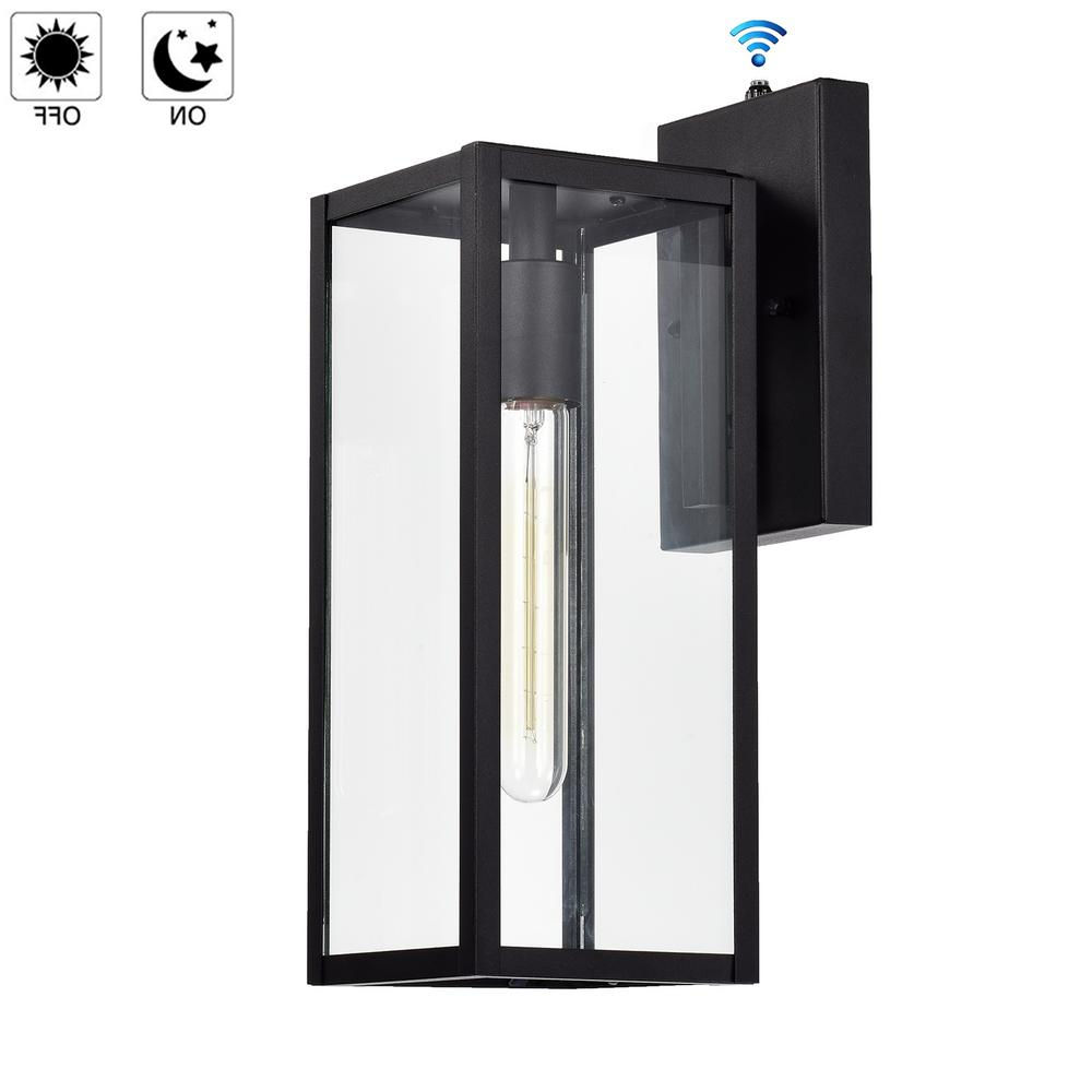 Ballina Matte Black Outdoor Wall Lanterns With Dusk To Dawn Intended For Favorite Jushua 1 Light Matte Black Outdoor Wall Lantern Sconce (View 14 of 20)