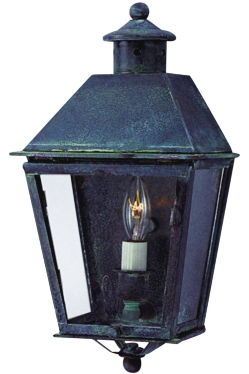 Banford Colonial Wall Sconce Copper Lantern Wall Light In Preferred Tilley Olde Bronze Water Glass Outdoor Wall Lanterns (View 20 of 20)