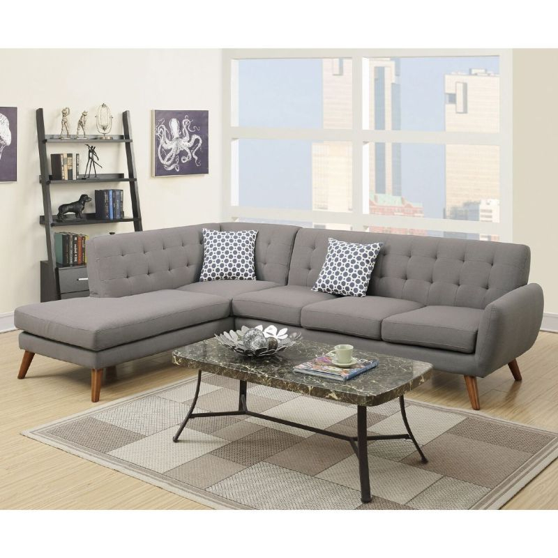 Barclay 4 Seat Linen Fabric Sofa Chaise Light Grey In 2020 For Favorite 2pc Crowningshield Contemporary Chaise Sofas Light Gray (View 3 of 20)