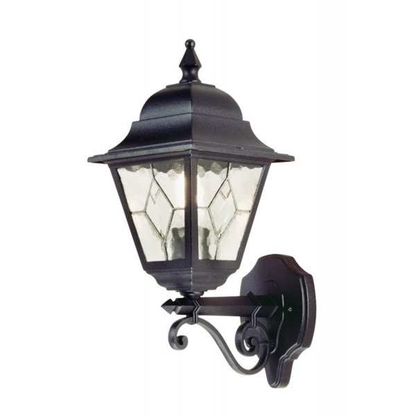 Bayou Beveled Glass Outdoor Wall Lanterns Intended For Popular Black Aluminium Outside Wall Lantern, Traditional Leaded (View 13 of 20)
