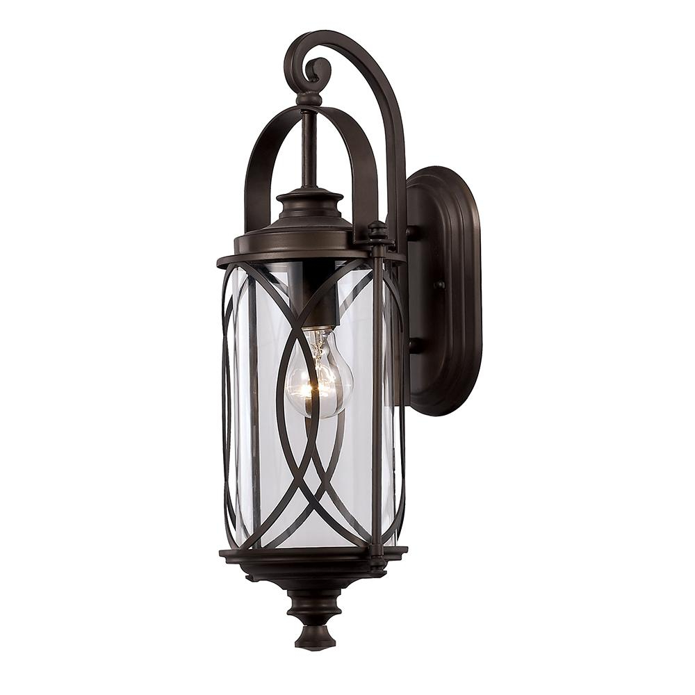 Bayou Beveled Glass Outdoor Wall Lanterns Within Well Known Monteaux Lighting 1 Light Oil Rubbed Bronze Outdoor Wall (View 6 of 20)