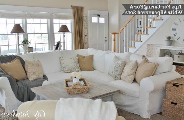 Beaux R'eves: Pottery Barn Knock Off Jcpenney Slipcovered Throughout Most Recently Released Camila Poly Blend Sectional Sofas Off White (View 19 of 20)