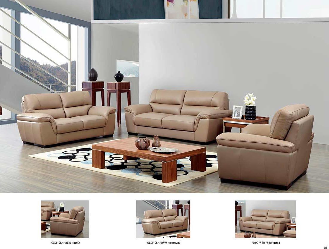 Beige Sofas Intended For Well Liked Beige Leather Sofa Ef (View 10 of 20)