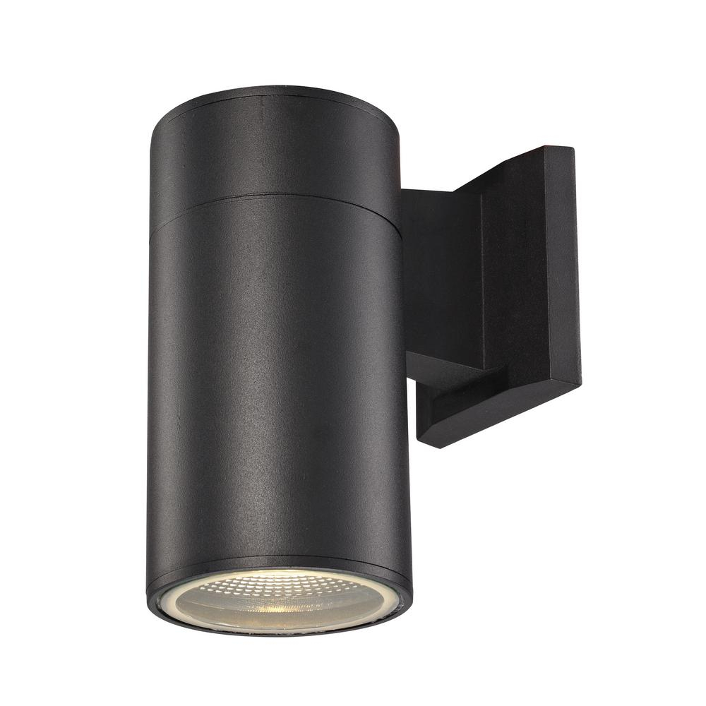 Bel Air Lighting Compact 1 Light Black Integrated Led In Well Known Vernie Black Integrated Led Outdoor Bulkhead Lights (View 3 of 20)