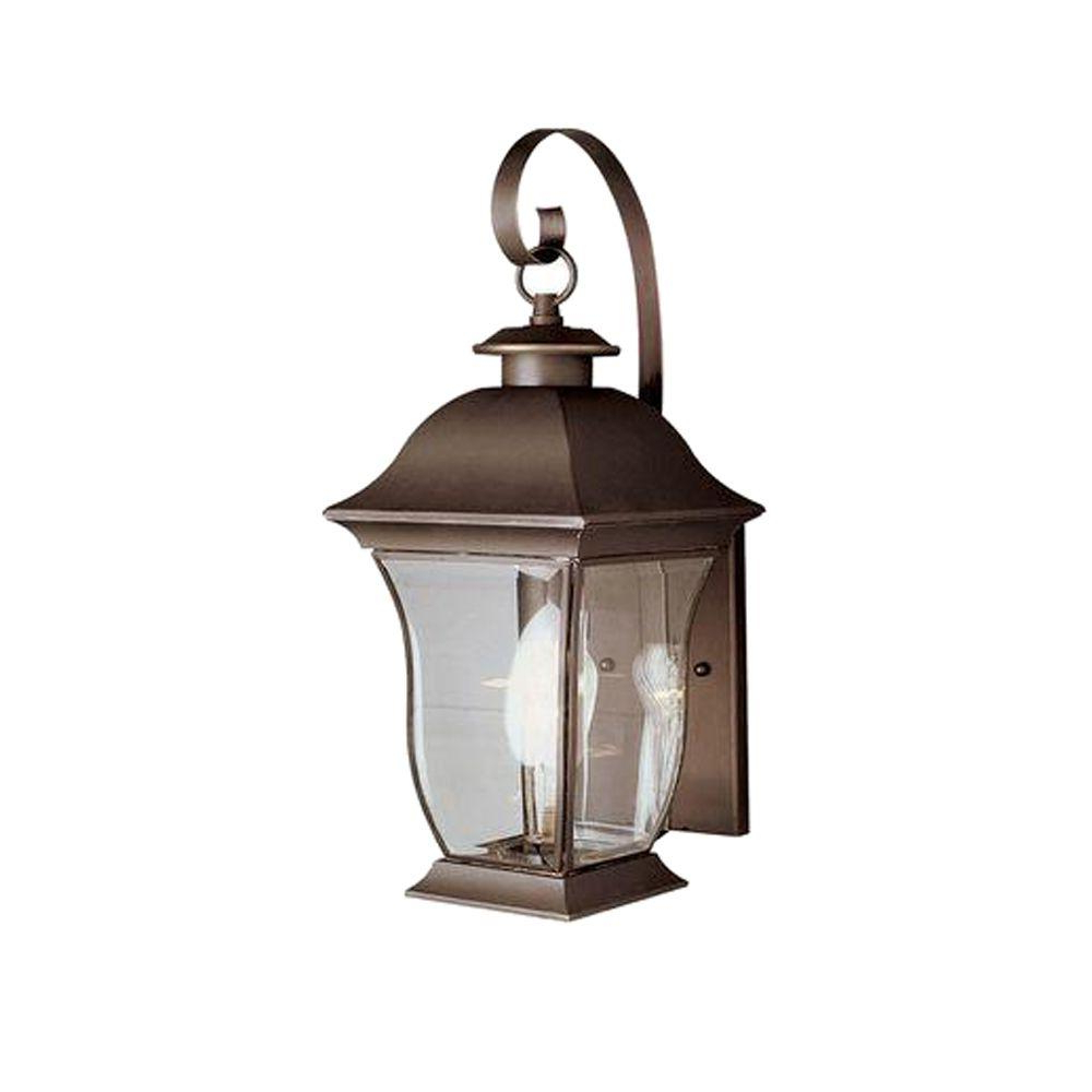 Bel Air Lighting Wall Flower 2 Light Outdoor Weathered With Regard To Current Carrington Beveled Glass Outdoor Wall Lanterns (View 17 of 20)