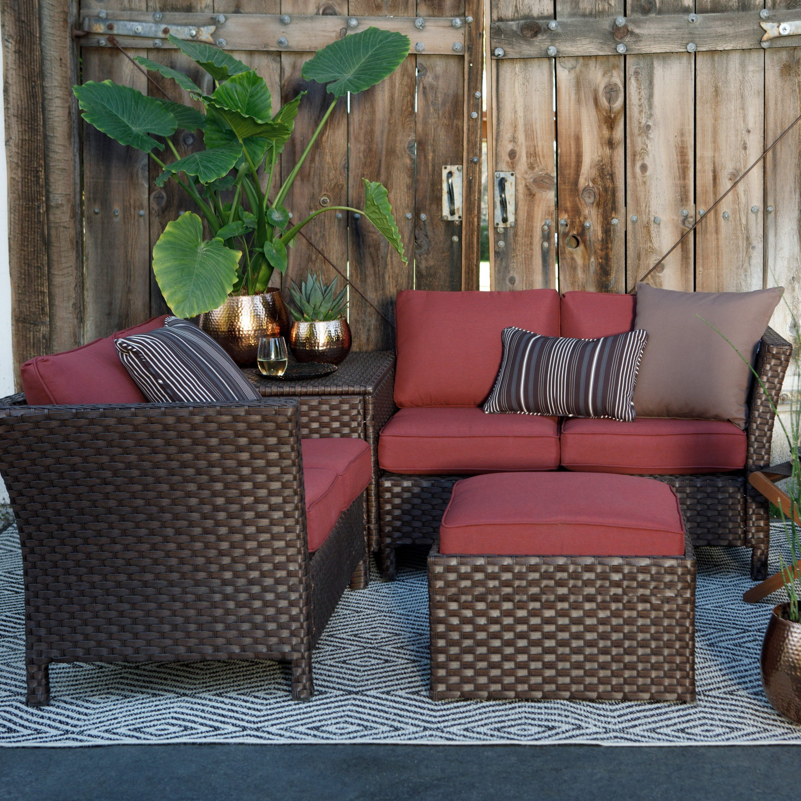 Belham Living Antigua Steel Woven Sectional Sofa With Pertaining To Current Setoril Modern Sectional Sofa Swith Chaise Woven Linen (View 18 of 20)
