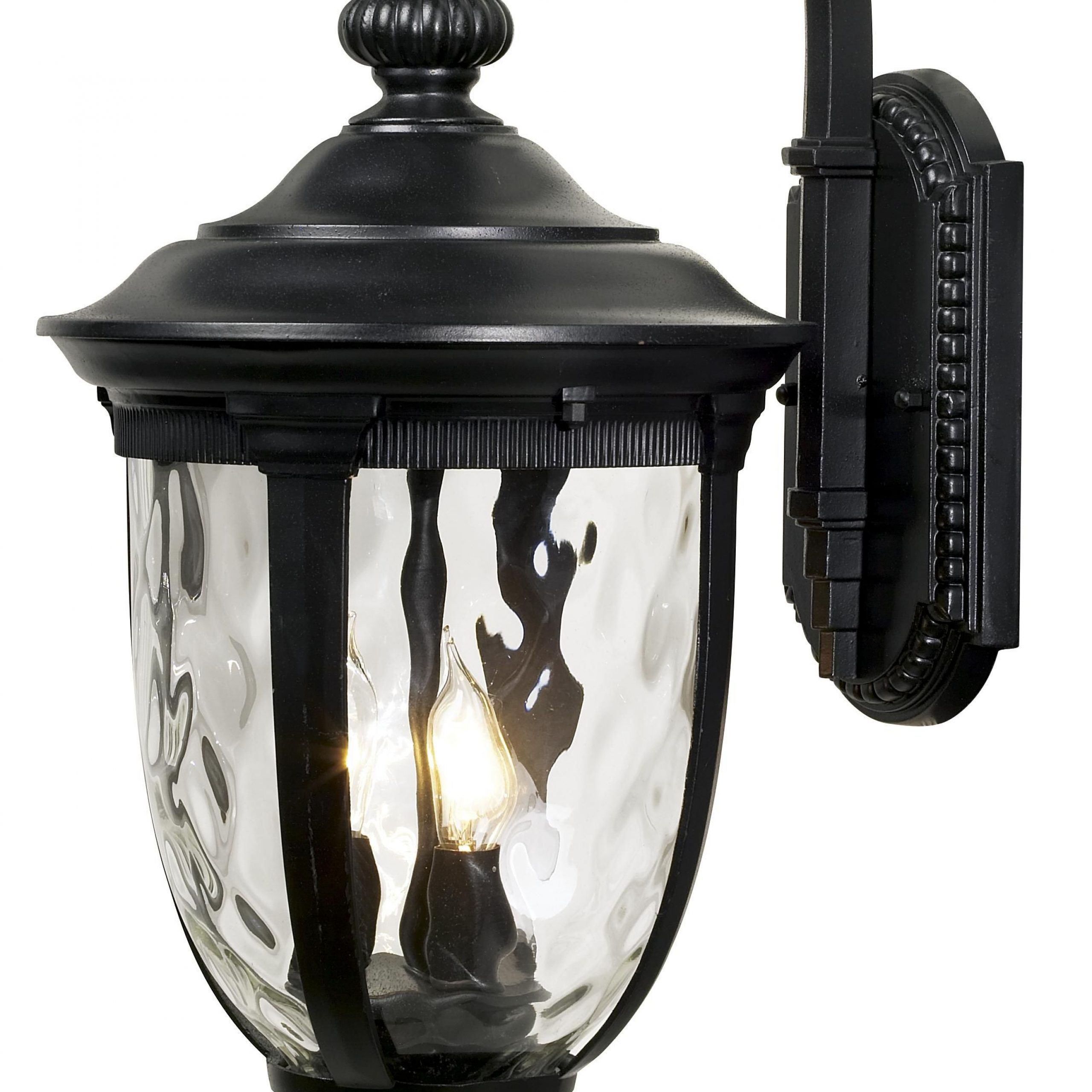 """Bellagio 20 1/2"""" High Black Downbridge Outdoor Wall Light With Best And Newest Rockefeller Black 2 – Bulb  Outdoor Wall Lanterns (View 8 of 20)"""