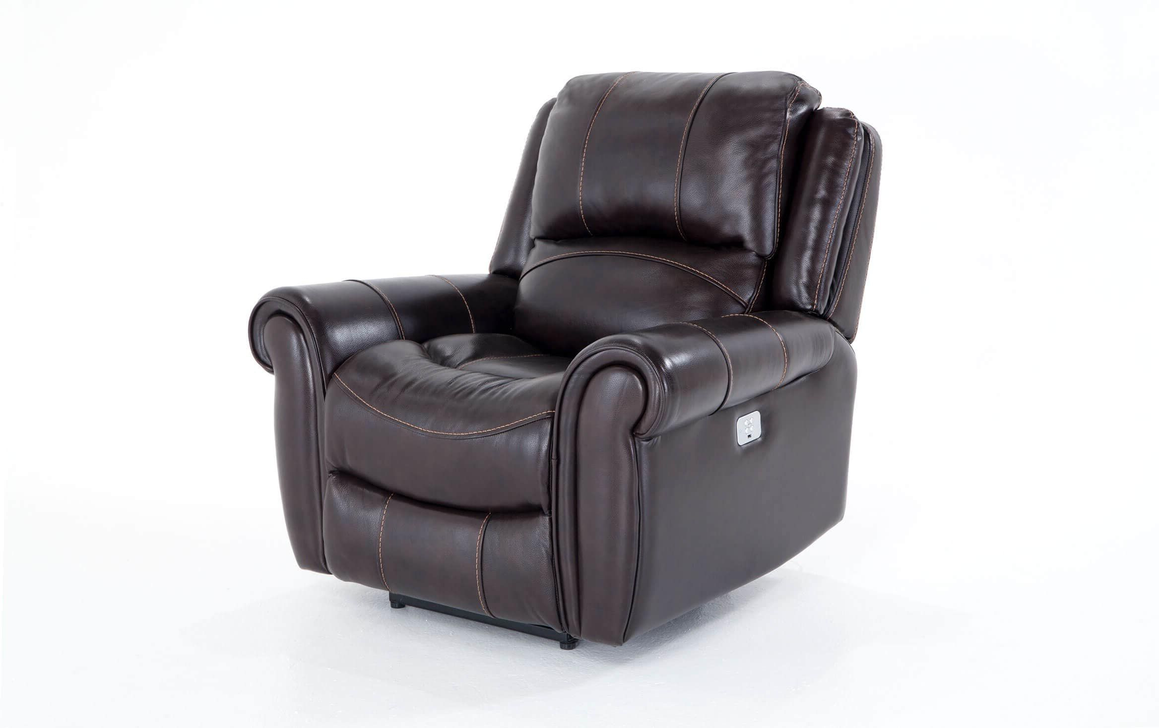 Bennett Power Reclining Sofas Pertaining To Most Current Bennett Leather Power Recliner In  (View 6 of 20)