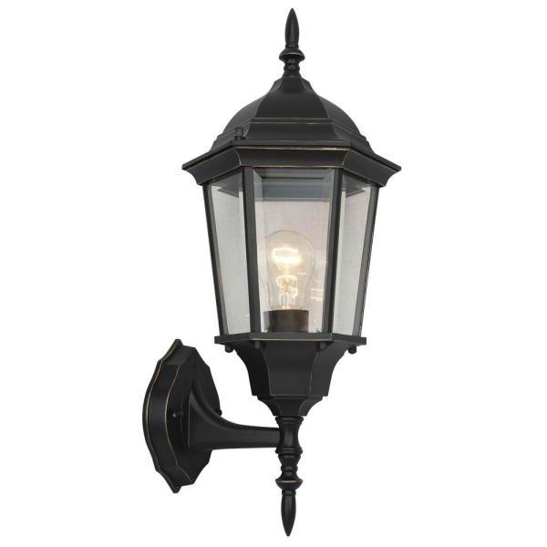 Bensonhurst Matt Black Wall Lanterns Regarding Most Recently Released 1 Light Imperial Black Outdoor Wall Lantern Sconce El953ib (View 5 of 20)