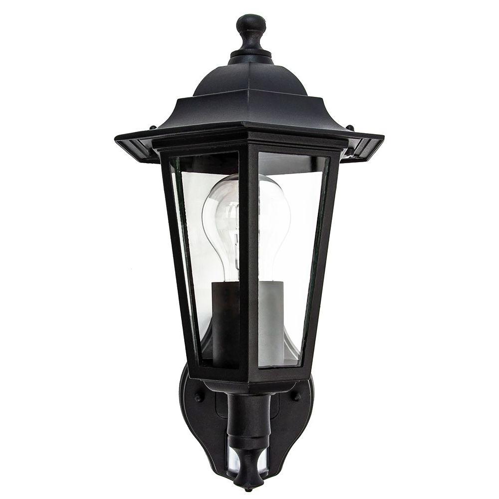 Bensonhurst Matt Black Wall Lanterns Throughout Trendy Traditional Sensor Controlled Outdoor Lantern Wall Light (View 9 of 20)