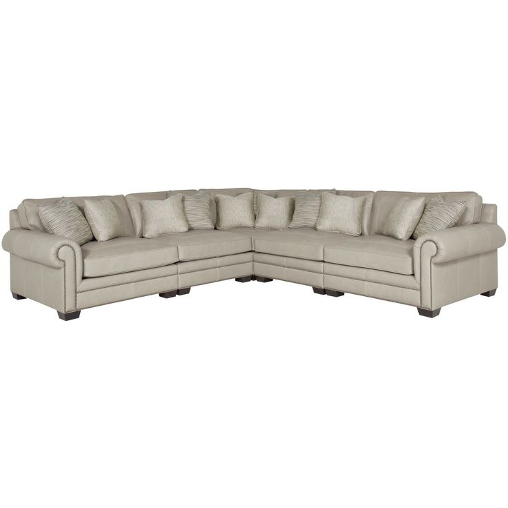 Bernhardt Interiors – Grandview 7230l, 7232l, 7235l, 7236l Intended For Current Radcliff Nailhead Trim Sectional Sofas Gray (View 5 of 20)