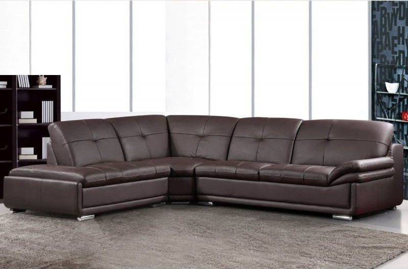 Best And Newest 3 Pc Henderson Collection Brown Bonded Leather Sectional Regarding 3pc Bonded Leather Upholstered Wooden Sectional Sofas Brown (View 19 of 20)