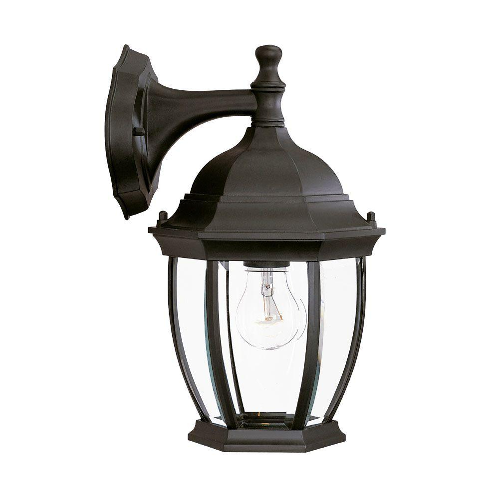 Best And Newest Acclaim Lighting Wexford Collection 1 Light Matte Black Intended For Armanno Matte Black Wall Lanterns (View 7 of 20)