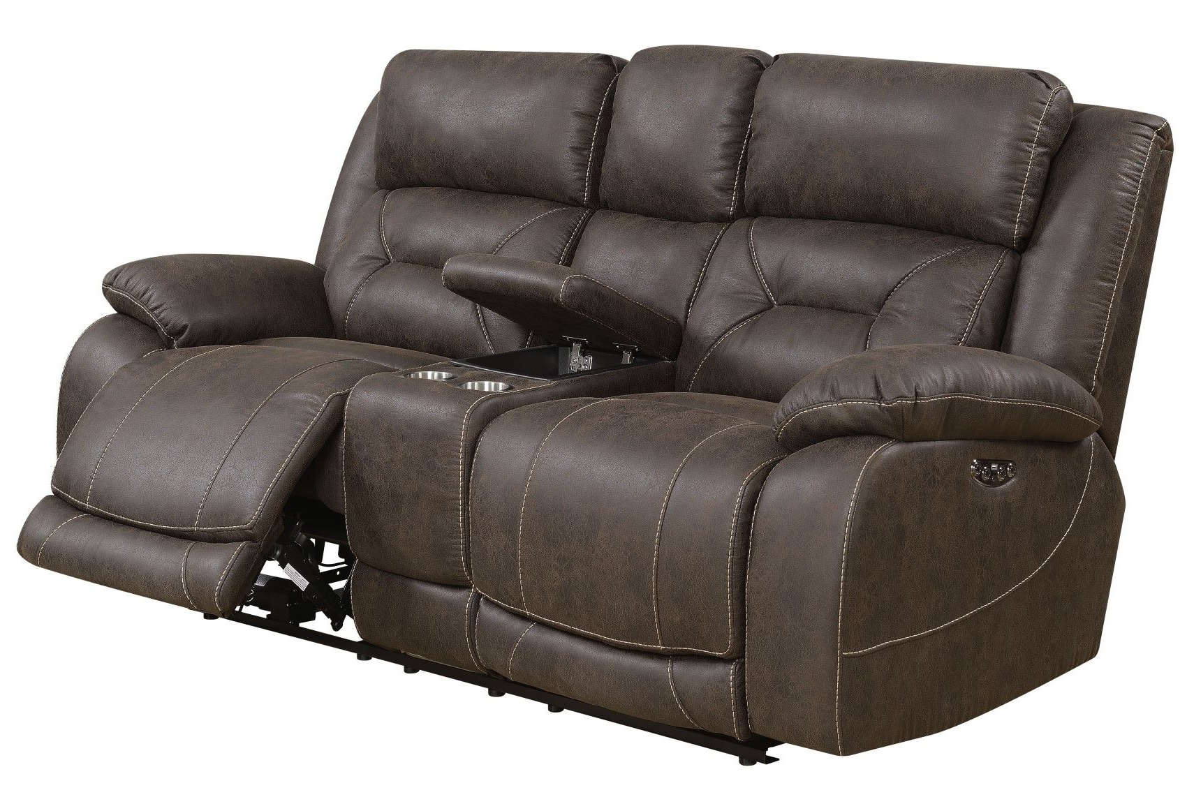 Best And Newest Aria Power Recliner Sofa Set With Power Head Rest In With Regard To Expedition Brown Power Reclining Sofas (View 2 of 20)