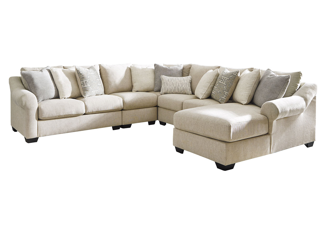 Best And Newest Carnaby 5 Piece Sectional Chaise Ashley Furniture Throughout Setoril Modern Sectional Sofa Swith Chaise Woven Linen (View 5 of 20)