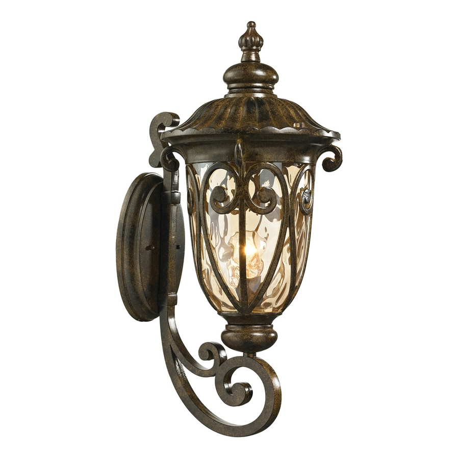 Best And Newest Cowhill Dark Bronze Wall Lanterns Intended For Shop Westmore Lighting Bingley 24 In H Hazelnut Bronze (View 19 of 20)