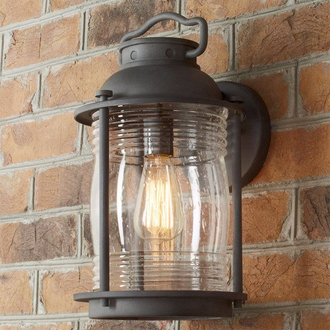 Best And Newest Emaje Black Seeded Glass Outdoor Wall Lanterns Pertaining To Check Out Seeded Glass Jar Outdoor Sconce – Large From (View 19 of 20)