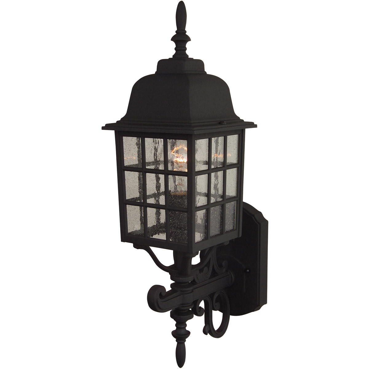 Best And Newest Keiki Matte Black Outdoor Wall Lanterns Intended For Craftmade Z274 Tb Grid Cage Outdoor Wall Light Textured (View 20 of 20)