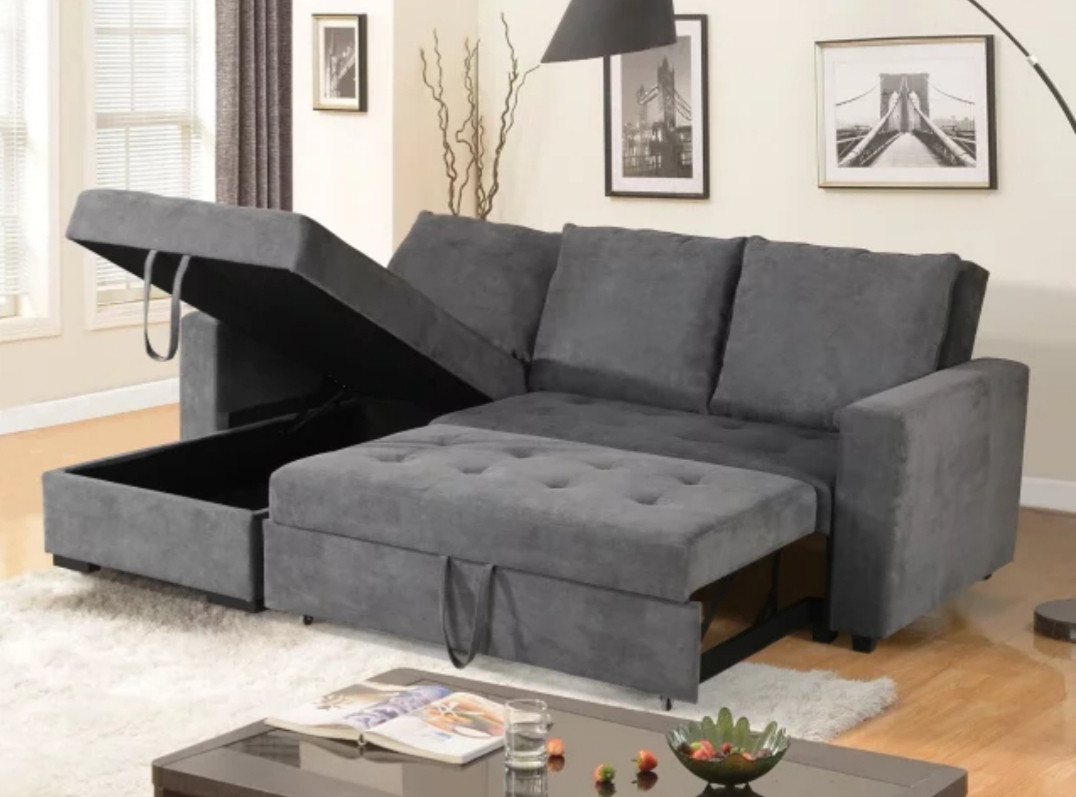 Best And Newest Livi King Size Sectional Sofa Bed – Reversible Chaise With Prato Storage Sectional Futon Sofas (View 4 of 20)