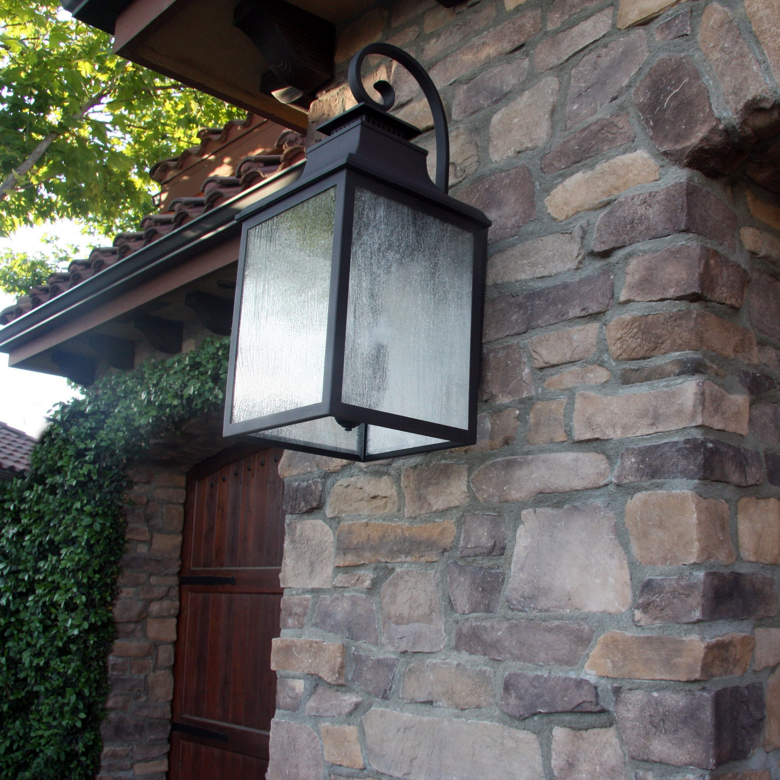 Best And Newest Meunier Glass Outdoor Wall Lanterns Intended For Y Decor Morgan 3 Light Outdoor Wall Lantern & Reviews (View 3 of 20)