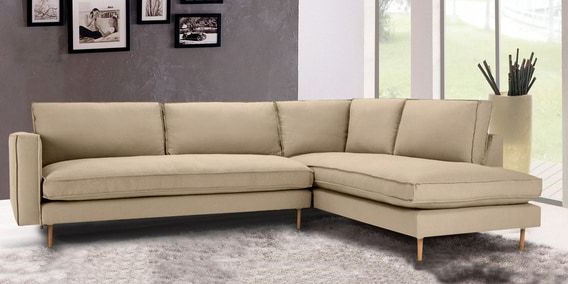 Best And Newest Modular Rhs Three Seater Sofa With Lounger In Beige Colour In Dream Navy 3 Piece Modular Sofas (View 9 of 20)