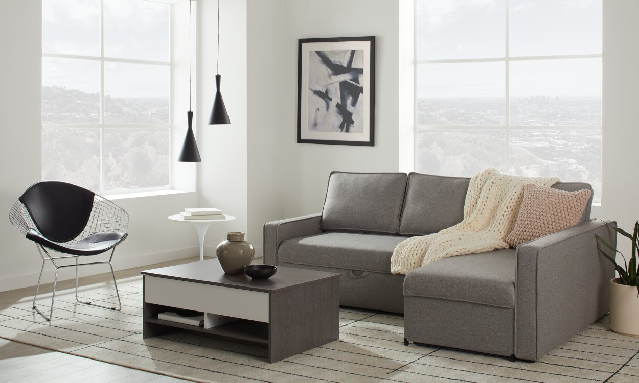 Best Sleeper Sectional Sofa For Small Spaces 2020 Inside Latest Palisades Reversible Small Space Sectional Sofas With Storage (View 7 of 20)