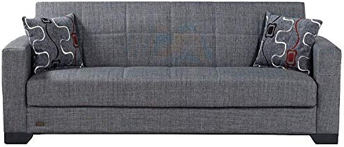 Beyan Sb 2019 Smoke Vermont Modern Chenille Fabric Regarding Most Up To Date Hugo Chenille Upholstered Storage Sectional Futon Sofas (View 10 of 20)