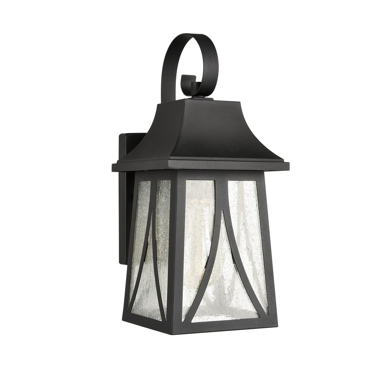 Featured Photo of Emaje Black Seeded Glass Outdoor Wall Lanterns