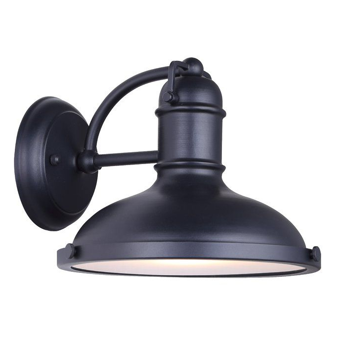 Black Outdoor Wall Lights Within Crandallwood Wall Lanterns (View 15 of 20)