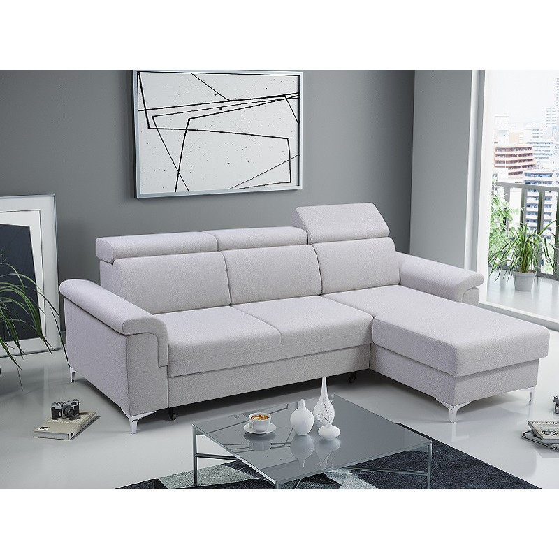 Bmf Vermont Modern Corner Sofa Bed Storage Chrome Legs Within Current Celine Sectional Futon Sofas With Storage Reclining Couch (View 9 of 20)