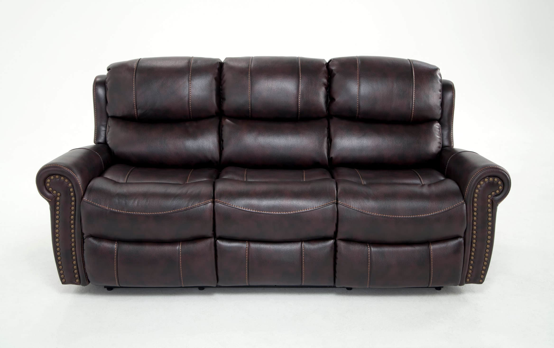 Bobs Furniture Leather Sofa : Trailblazer Gray Leather Pertaining To Most Recent Trailblazer Gray Leather Power Reclining Sofas (View 2 of 20)