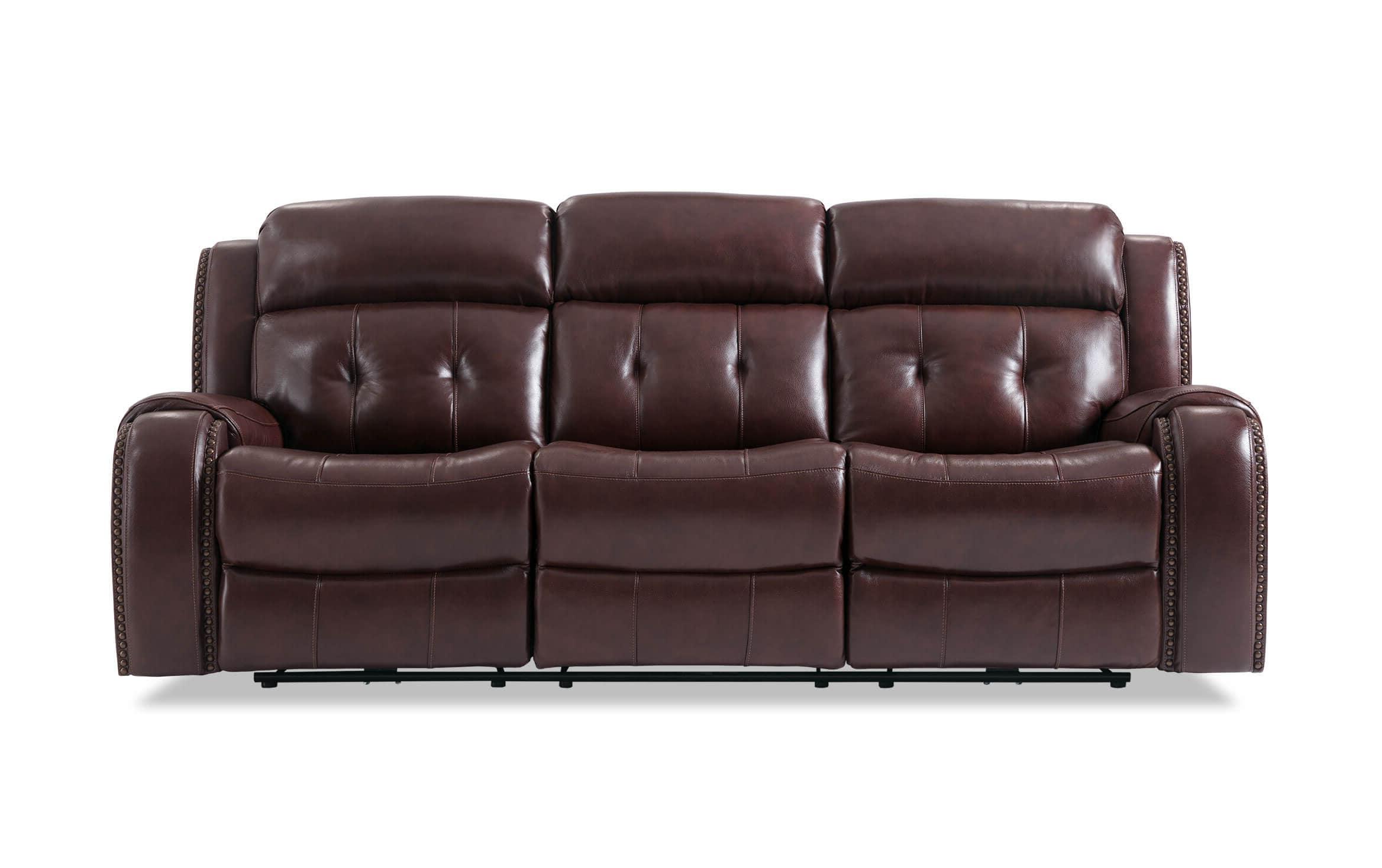 Bobs Furniture Leather Sofa : Trailblazer Gray Leather Throughout Best And Newest Trailblazer Gray Leather Power Reclining Sofas (View 4 of 20)