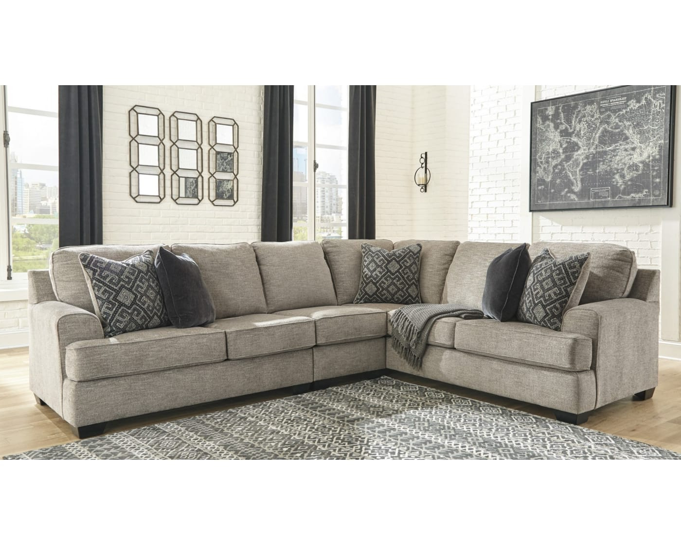 Bovarian Stone 3 Piece Right Facing Sectional Sofa Inside Newest Dulce Right Sectional Sofas Twill Stone (View 5 of 20)