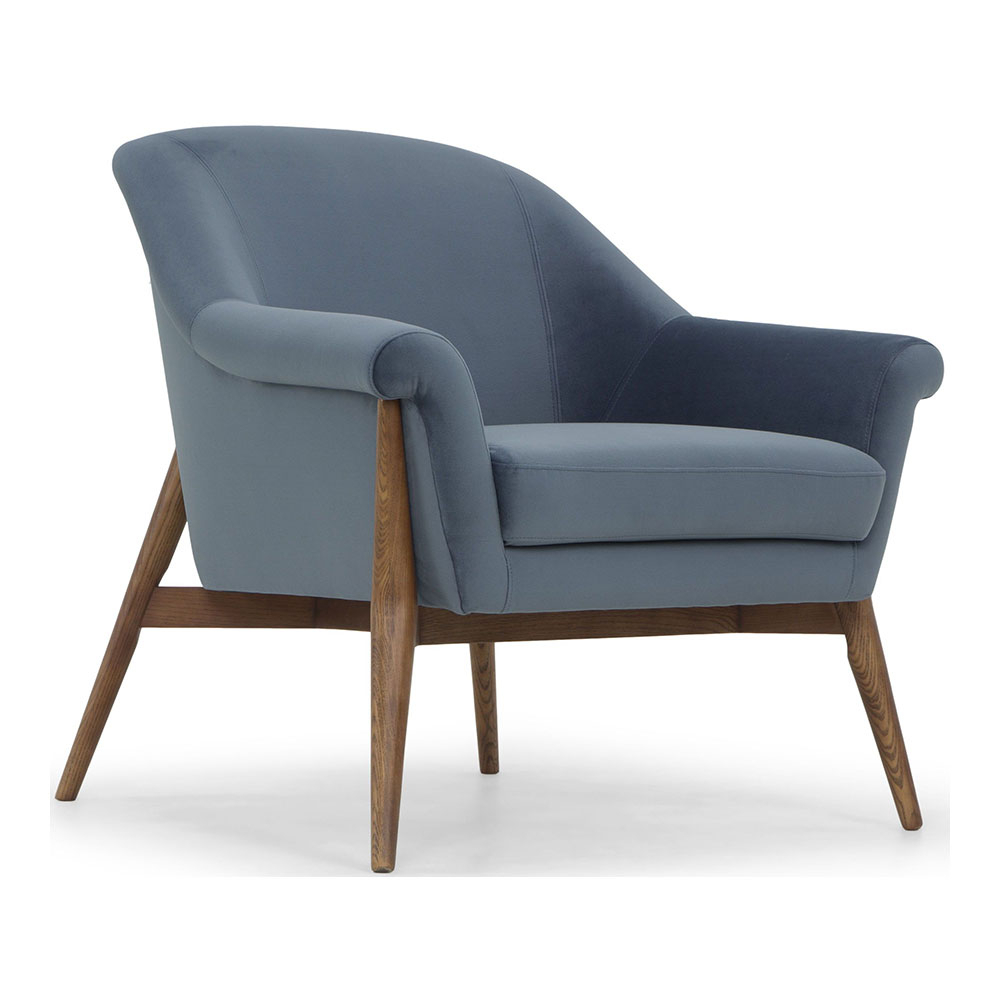 Brayson Chaise Sectional Sofas Dusty Blue Intended For Preferred Charlize Armchair – Dusty Blue – Rouse Home (View 13 of 20)