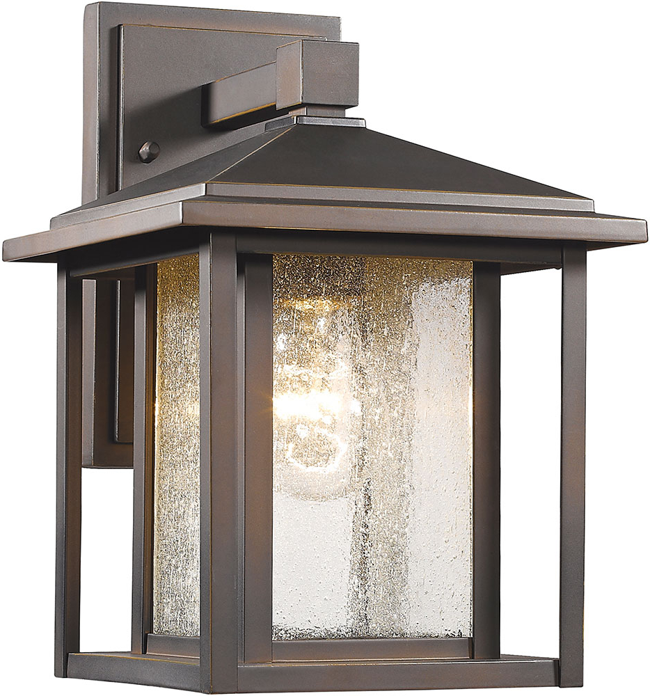 Brierly Oil Rubbed Bronze/black Outdoor Wall Lanterns Within Widely Used Z Lite 554s Orb Aspen Oil Rubbed Bronze Exterior Wall (View 5 of 20)